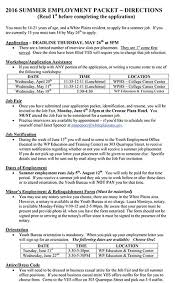Resume For Casual Jobs by Summer Employment