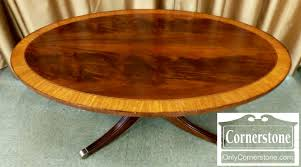 large vintage ethan allen mahogany coffee table inlays ball and