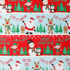 wrapping paper roll 12m snowmen b m