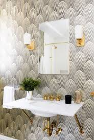 Powder Room Decorating Ideas Contemporary Best 25 Bathroom Wallpaper Ideas On Pinterest Half Bathroom