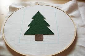 embellished christmas tree frame art my girlish whims