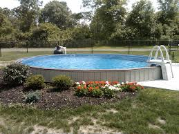 Pool Garden Ideas by Landscaping Above Ground Pool Landscaping With Plants And Fence