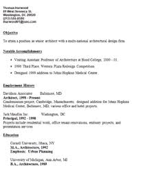 Architecture Resume Samples by Effective Samples For Architecture Resume Sections