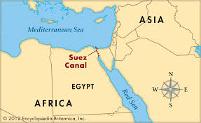 Egypt On Map Suez Canal On Map Adriftskateshop