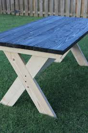 Building A Wood Picnic Table by How To Build A Farmhouse Picnic Table