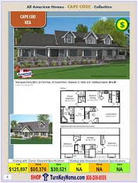 All American Homes Cape Cod Archives Modular Homes U0026 Manufactured Homes Priced