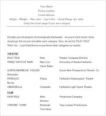 Sample Child Actor Resume by Resume For Actors Template 10 Acting Resume Templates Free Samples