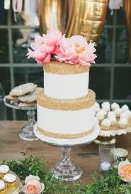 metallic wedding cakes brides