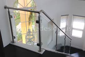 Glass Banisters For Stairs Stainless Steel Glass Railing Square Stairs Middle Post Inline