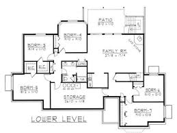 four bedroom ranch house plans apartments house floor plans with inlaw suite mediterranean