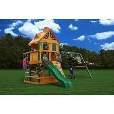 Small Backyard Swing Sets by Swing N Slide Grandview Twist Wood Swing Set Walmart Com