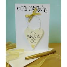personalised 50th birthday card by country heart