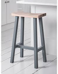 unique wooden breakfast bar stools chunky solid oak kitchen stool
