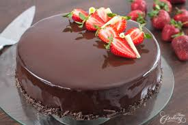 chocolate strawberry strawberry chocolate mirror cake home cooking adventure