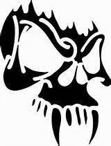 cas professional airbrush stencil skull 79 crowned skulls