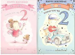 2 year old birthday card for son daughter nephew niece grandson