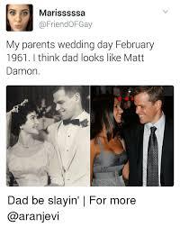 Wedding Day Meme - marisssssa ofgay my parents wedding day february 1961 i think dad