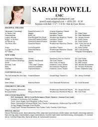 Examples Of Acting Resumes by Child Modeling Resume Format Kids Acting Sample Actors Template