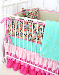 tinsley u0027s pink boho floral crib bedding caden lane
