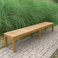 backless bench outdoor teak benches foxhall 7 ft 9 in backless bench country casual