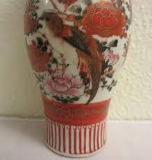 Japanese Kutani Vases Antique Japanese Colorful Kutani Porcelain Vase Birds And Flowers
