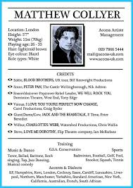 Acting Resume For Beginners Acting Resume Template Berathen Com No Experience For A Templates