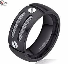 jewelry rings mens images 8mm titanium ring men 39 s silver black cable inlay men jewelry jpg