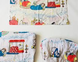 Snoopy Bed Set Vintage Snoopy Bedding Etsy