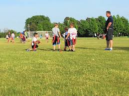 Youth Flag Football Practice Grassroots Round Lake Flag Football League Caps Inaugural Season