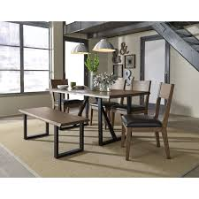 Dining Room Table Set With Bench by Standard Furniture Sierra Rustic Table Set With Dining Bench
