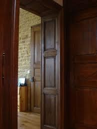 porte interieur en bois massif porte en chêne double vantaux