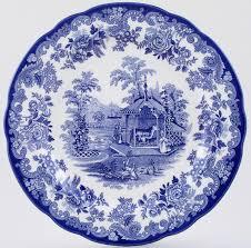 spode blue room dresser plate the rhinoceros house of blue