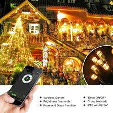 200 led bluetooth smart christmas lights warm white brizled