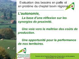 chambre d agriculture bourgogne evaluation des besoins en paille et en protéine du cheptel bovin