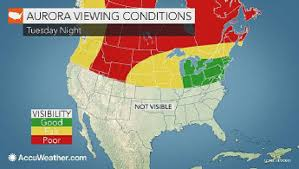 Northern Lights Map Northern Lights May Glow In Southern Ontario Tonight Toronto Star