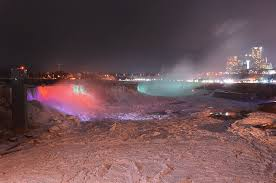 niagara falls frozen u2013 nighttime photos garden walk