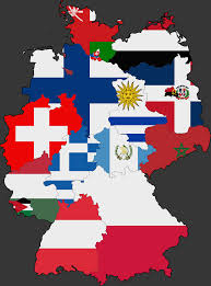 German States Map by German States Colored With The Flag Of A Country With Roughly The