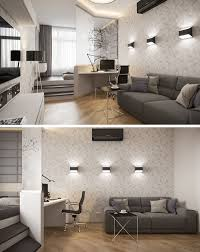 bed and living small apartment design idea separate the bedroom by elevating it