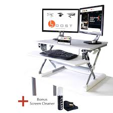 Sit And Stand Desk by Rocelco Adr Sit To Stand Adjustable Desk Riser