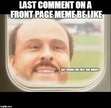 Pager Meme - airplane window looking in memes imgflip