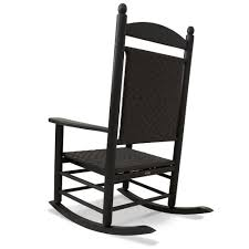 Outdoor Vinyl Rocking Chairs Polywood Reg All Weather Jefferson Woven Rocker Outdoor