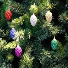 6pcs pack cute pine cones shooting star the stars christmas