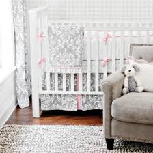 Pink And Gray Comforter Crib Bedding For Girls Rosenberry Rooms