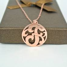 Circle Monogram Necklace Customized Monogram Necklace Online Shopping The World Largest