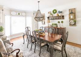 Farmhouse Dining Room Makeover Reveal Before And After - Dining room makeover