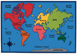 Where Is North America On The Map by Carpets For Kids Value Plus World Map Area Rug U0026 Reviews Wayfair