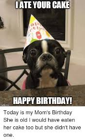 Mom Birthday Meme - ate your cake happy birthday today is my mom s birthday she is