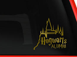 hogwarts alumni sticker hogwarts alumni castle 6 car truck vinyl decal