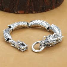 dragon bracelet silver images Handcrafted thai 925 silver dragon bracelet vintage pure silver jpg