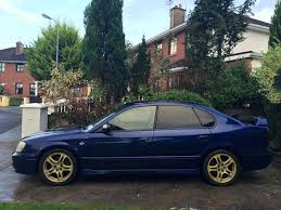 blue subaru gold rims subaru legacy b4 rsk ph carpool pistonheads